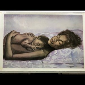 Other - Sleeping Mom & Baby Print Poster